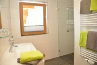 Badezimmer des Appartements Rosenalm